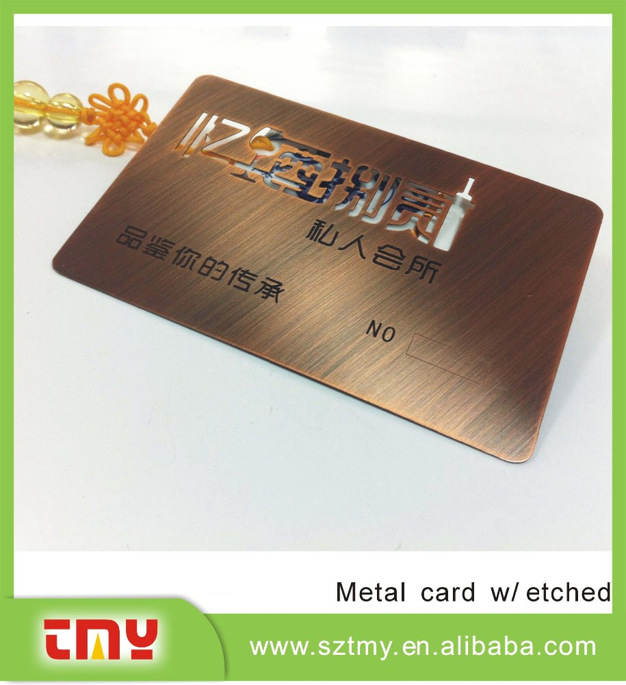 Top Quality Factory Price Copper Finishing Metal Business Card - Buy ...