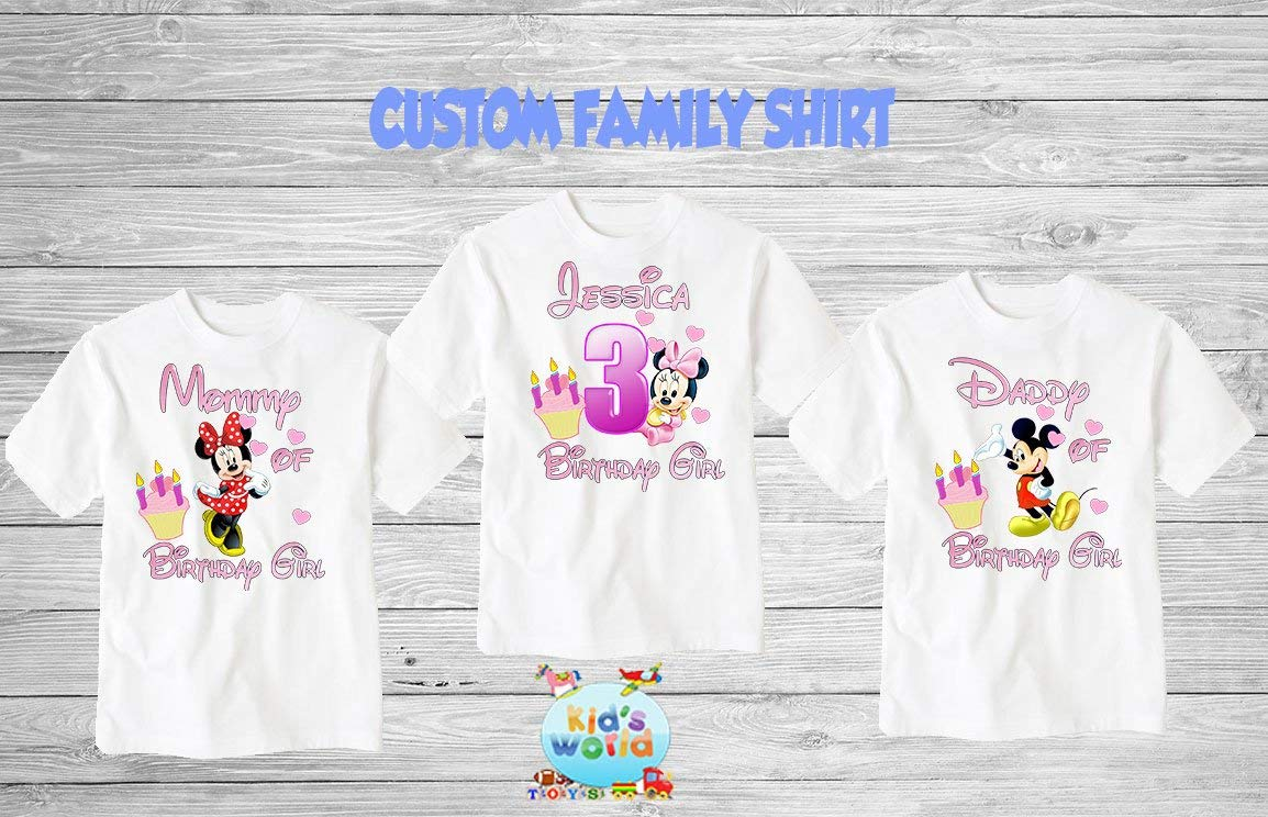 e9afac87 Get Quotations · Mickey Mouse birthday shirt,Custom shirt,personalized Mickey  Mouse Shirt, family shirt,