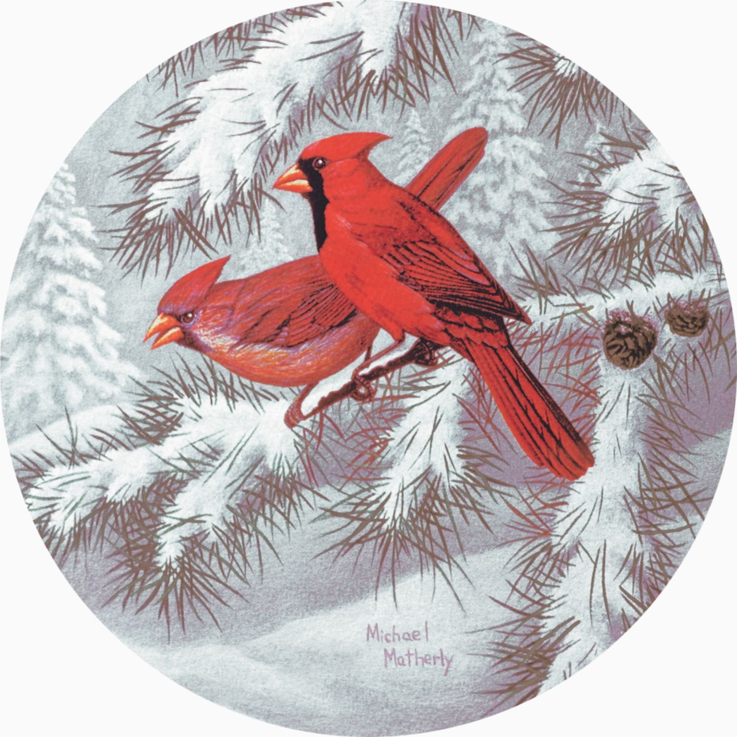 Bird 7 Winter Cardinals Spare Tire Cover for Jeep RV Camper and more (Select from popular sizes in drop down menu or contact us-ALL SIZES AVAILABLE) … (email, black)