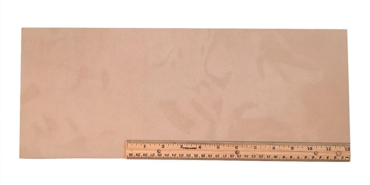 "Scrap Leather Piece Medium Weight Boot Leather; Light Brown Desert Sand Cowhide 18"" X 7+"" Piece"