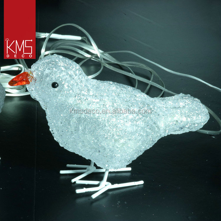 Factory provide decoration indoor warm white bird decorative 3d christmas light