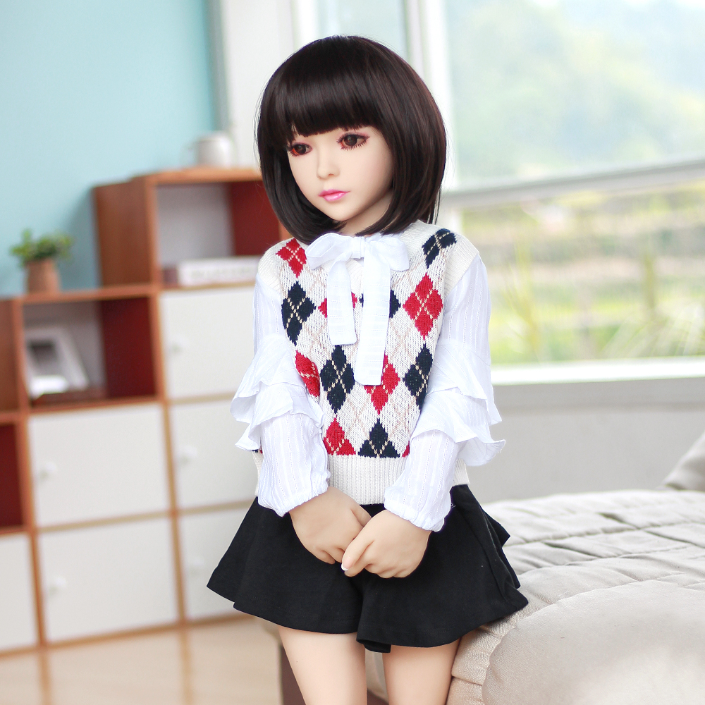 100cm mini real sex doll <strong>flat</strong> chest small dolls silicone love toys for man