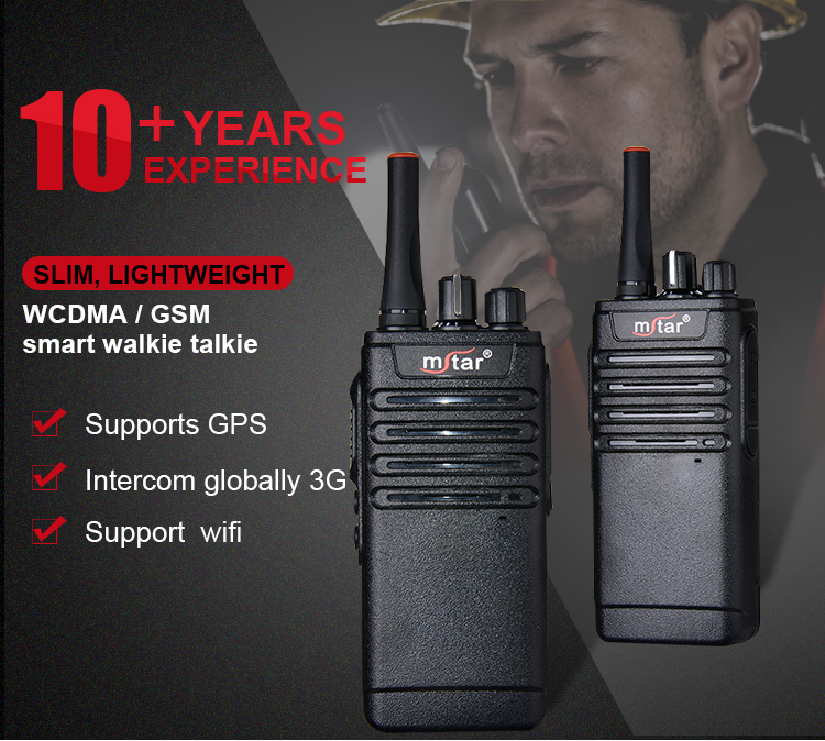 Mstar CK169 ip54 protective design military quality wifi walkie talkie with sim card