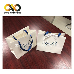 Luxury custom logo shoes box packing folding white shopping paper bag