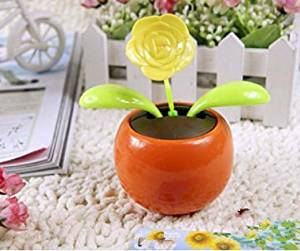 Car solar dancing/Swing Solar Flower For Car/Swing Solar Flower/The Best U Want Orange