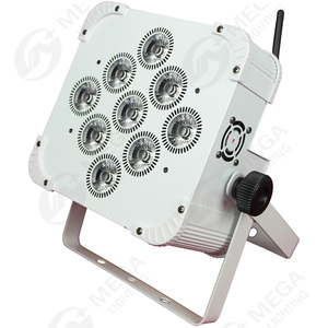 wholesale DMX 9 lens UV 6in1 wireless battery powered led uplights par can