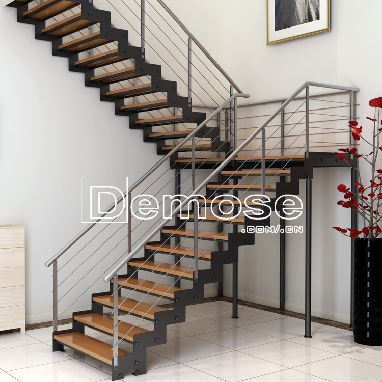 Customized Wood Tread Stainless Steel Stair Stringers/steel Staircase  Structural Design   Buy Customized Wood Tread,Stainless Steel Stair ...