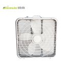 "110V 120V 20"" ETL White 5 Blade Square Plastic Box Fan"