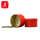 Xin Jia Yi Packaging Tea Tin Box Tea Small Red Yellow Round Metal Storage Easy Open Paper Lid Tin Boxes Special Bottom Cases