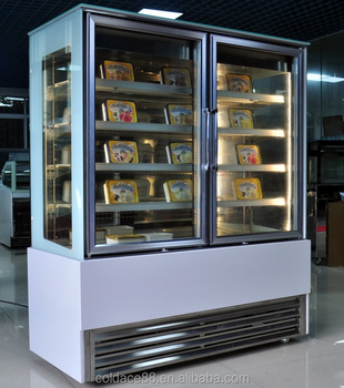 Four Glass Window Boxed Ice Cream Showcase Refrigerator Buy Boxed Ice Cream Showcaseice Cream Refrigeratorsice Cream Freezer Product On