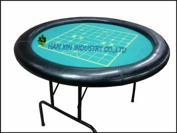 Custom Cheap Small Round Portable Folding Poker Table