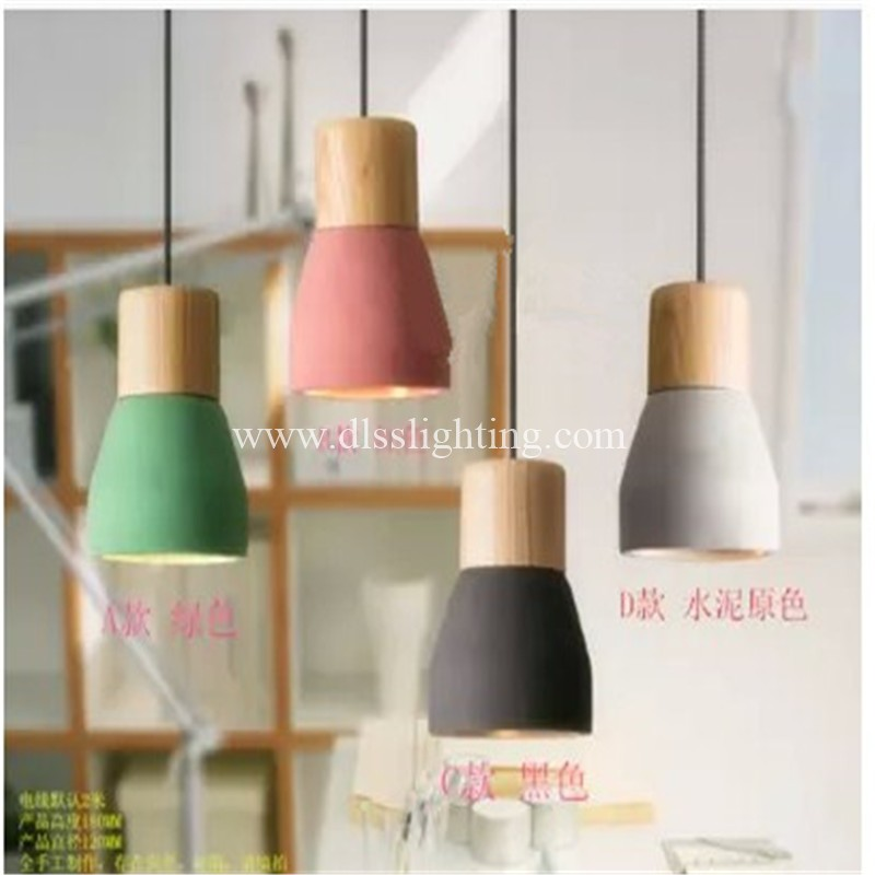 energy saving cement and wood colorful lights&lighting for living room in zhongshan city