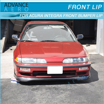 For 90 91 Acura Integra T-r Style Cf Front Bumper Lip Spoiler ...