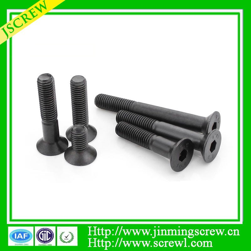 Hex flat head, Black oxide <strong>screw</strong>, half thread bolt <strong>screw</strong>