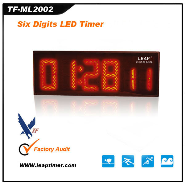 TF-ML2002 portable high quality red led crossfit timer