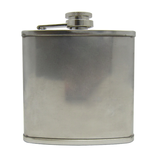 7oz 201stainless steel groove hip flask