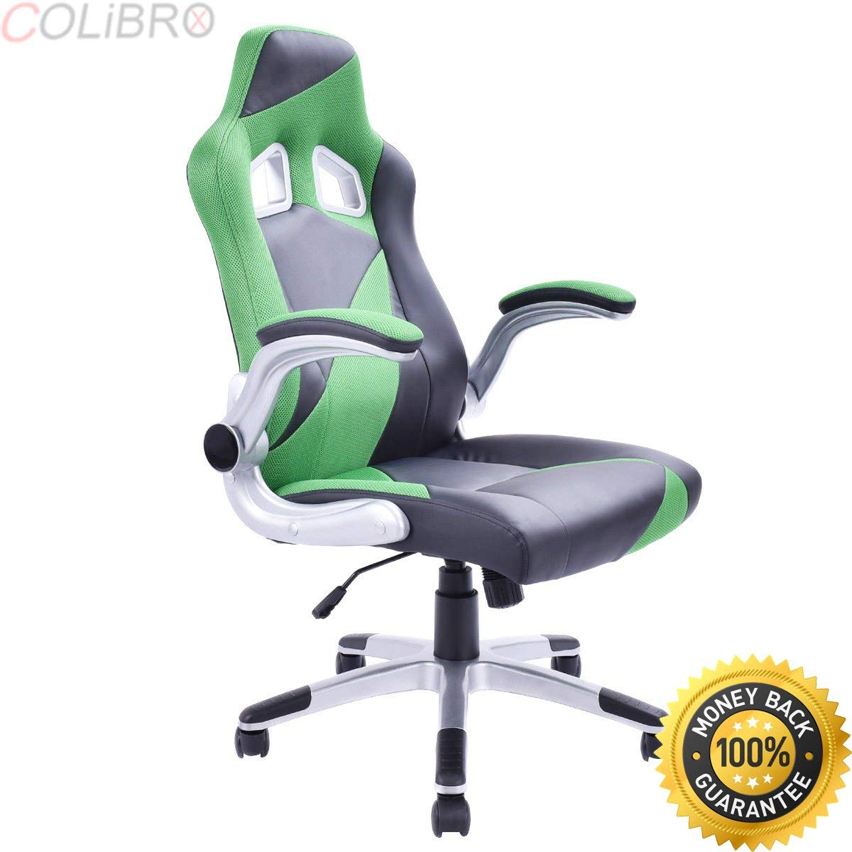 Get Quotations · COLIBROX  PU Leather Executive Racing Style Bucket Seat  Office Chair Desk Task Computer.