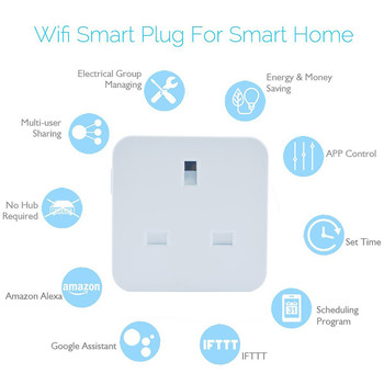 Hot Selling UK Plug Socket 10A Power Plug Shenzhen On Wifi New Smart Home Product