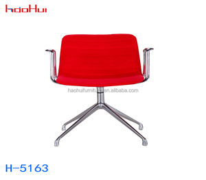 leather swivel Computer chair adjustable office chair no wheels