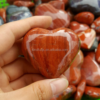 Red Jasper Stone Hearts Romantic Crystal Love Gifts