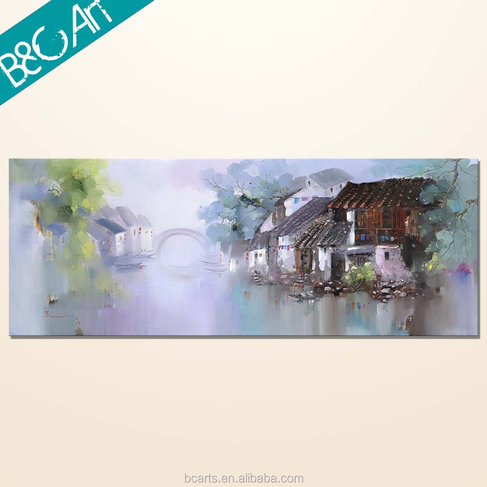 YF(7504) Hot Images Famous Building Paintings