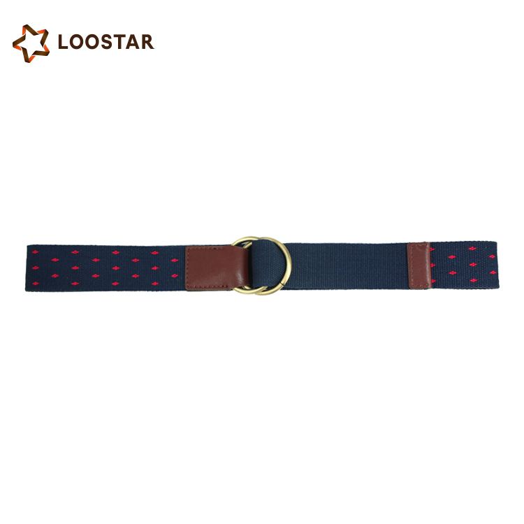 mens outdoor stripe wholesale canvas fabric belt