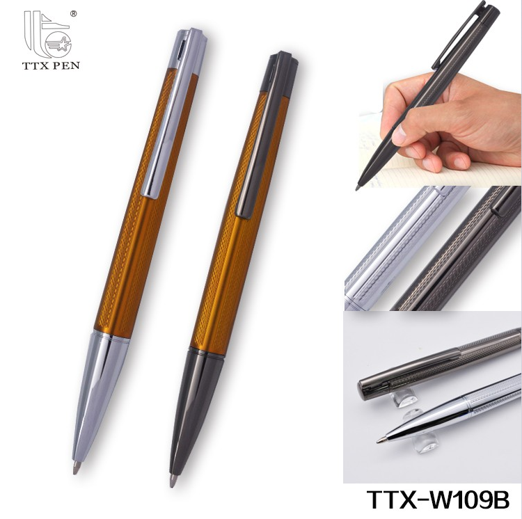 2018 business top quality customized promotional metal ball pen set with gift box