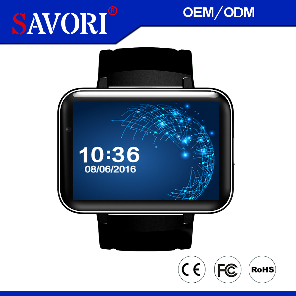 3G Android 5.1 WIFI Smart watch With GPS Bluetooth Heart Rate Monitor Savori