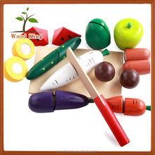 Fruits And Vegetables Children'S Girl Wooden Chopping Suit Imitation Cute Toys Cutlery Play Set Cutting Vegetables Toy