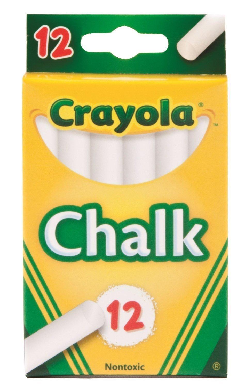 Crayola Chalk, White,12 Count (Case of 36)