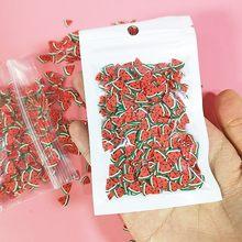 1000 шт 10 г искусственный фруктовый ломтик наполнитель для украшения для ногтей советы слизи фрукты для детей аксессуары для украшения(Китай)