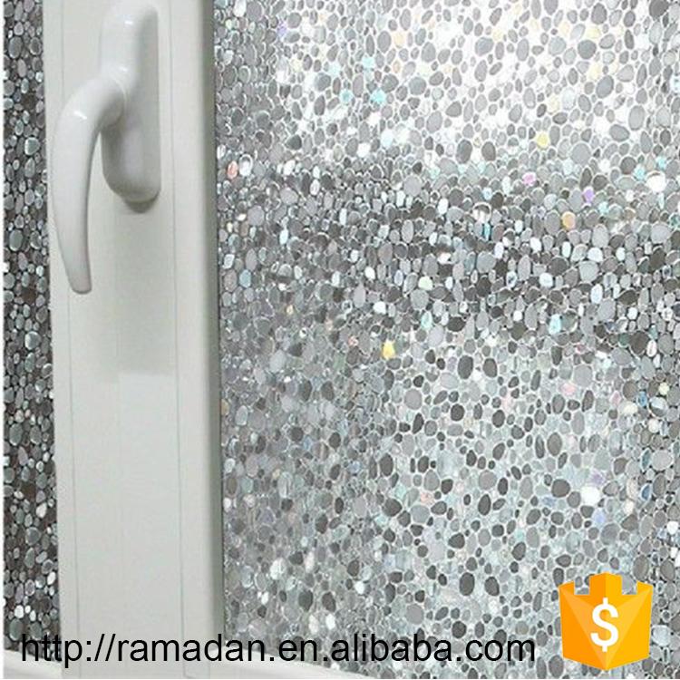 Hot Vente Confidentialité Givré Statique Fenêtre Teinte Sans Colle - Verre fenetre salle de bain