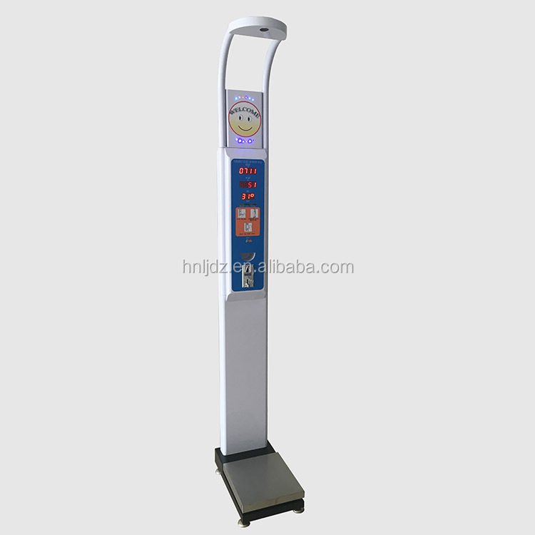 Electronic bmi body scale machine coin operated body height weight measuring