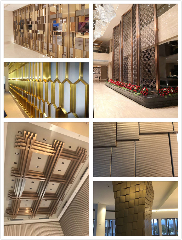 stainless steel customized fabrications indoor outdoor brass sculpture