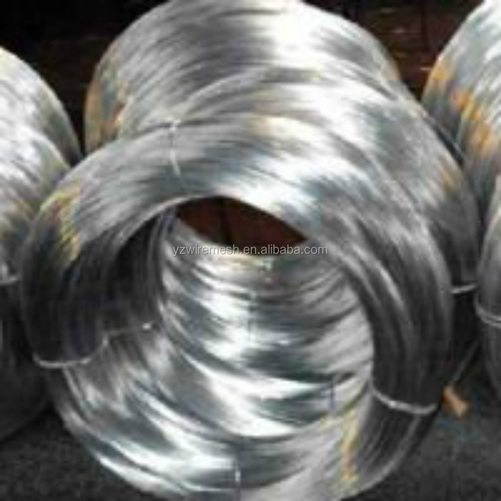Low price hot dip galvanized iron wire for making nai