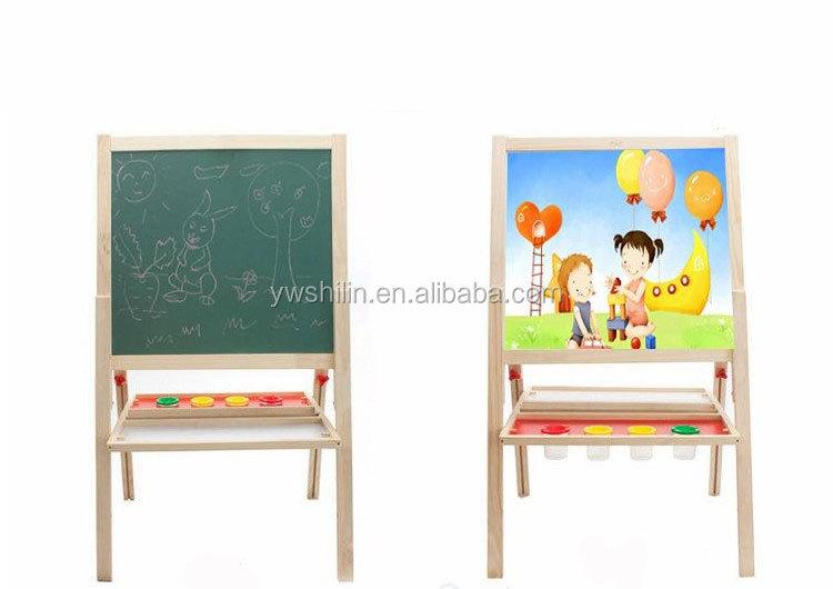 2014 neueste holz staffelei spielzeug holz magnetischen schreiben tafel mit farbe tablett f r. Black Bedroom Furniture Sets. Home Design Ideas