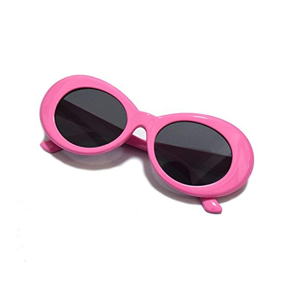e5c9ecdbb1 Get Quotations · Aigemi 2018 Unisex Bold Retro Oval Classic Sunglasses  Clout Goggles