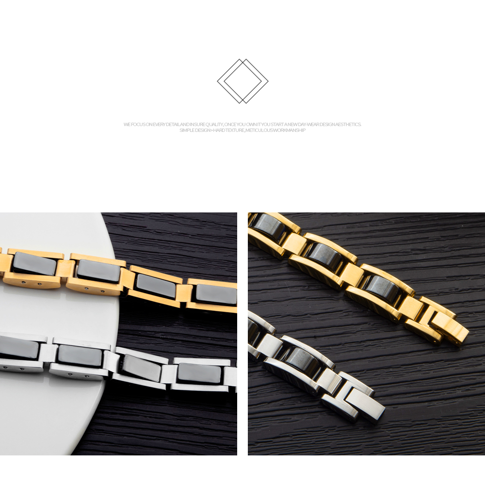 Trending Products 2019 Magnetic Stone Adjustable Stainless Steel Body Bracelet