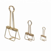 Golden Series Rectangle 19mm Small Spring Wire Paper Binder Clip
