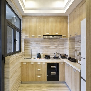 Ready to assemble wood veneer kitchen cabinets with cheap price
