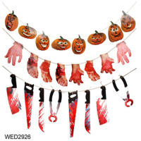 Horror Props Bloody Hand Haunted Party Spooky Halloween Banner Scary Hand Hanging Decor