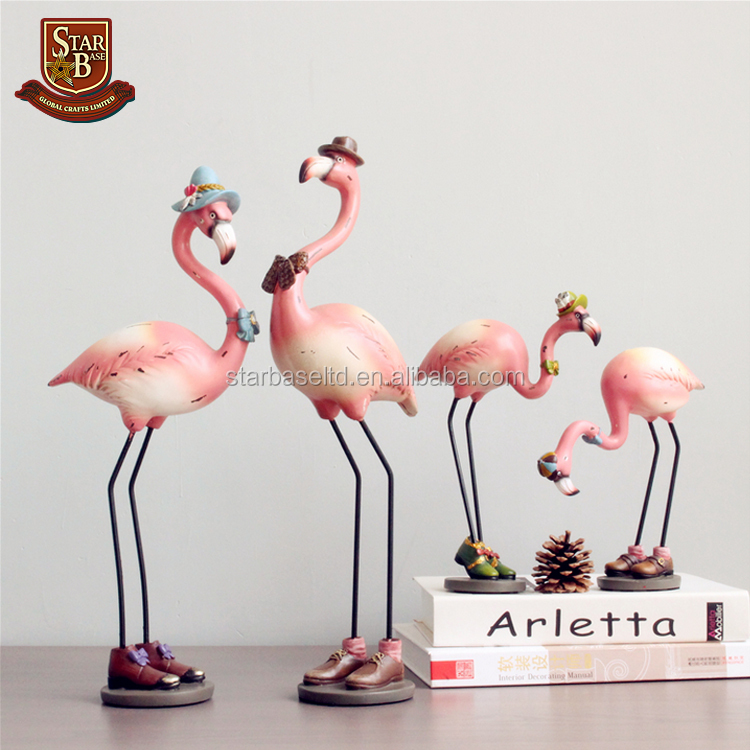 Outdoor garden decoration life size animals resin flamingo statues for sale