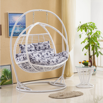 Modern Design Two Seat Swing Rattan Hanging Egg Chair For RH176