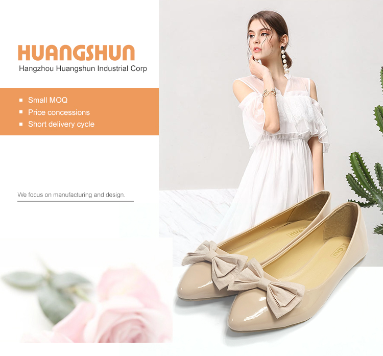 2019 New Design Bowknot Flat Casual Women Shoes