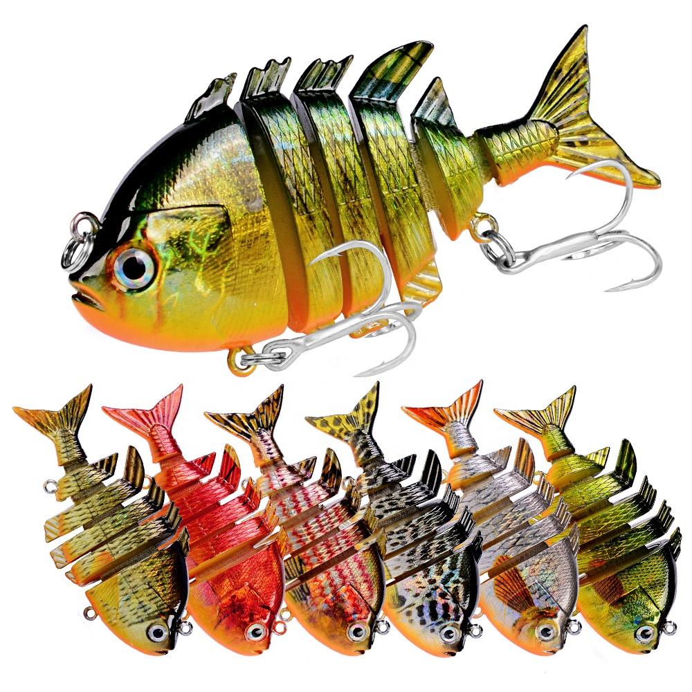 Topwater Pike Fishing Lure 8cm 14.5g Bluegill Sunfish Swimbait Jointed Segments Bass Baits, 8 colors