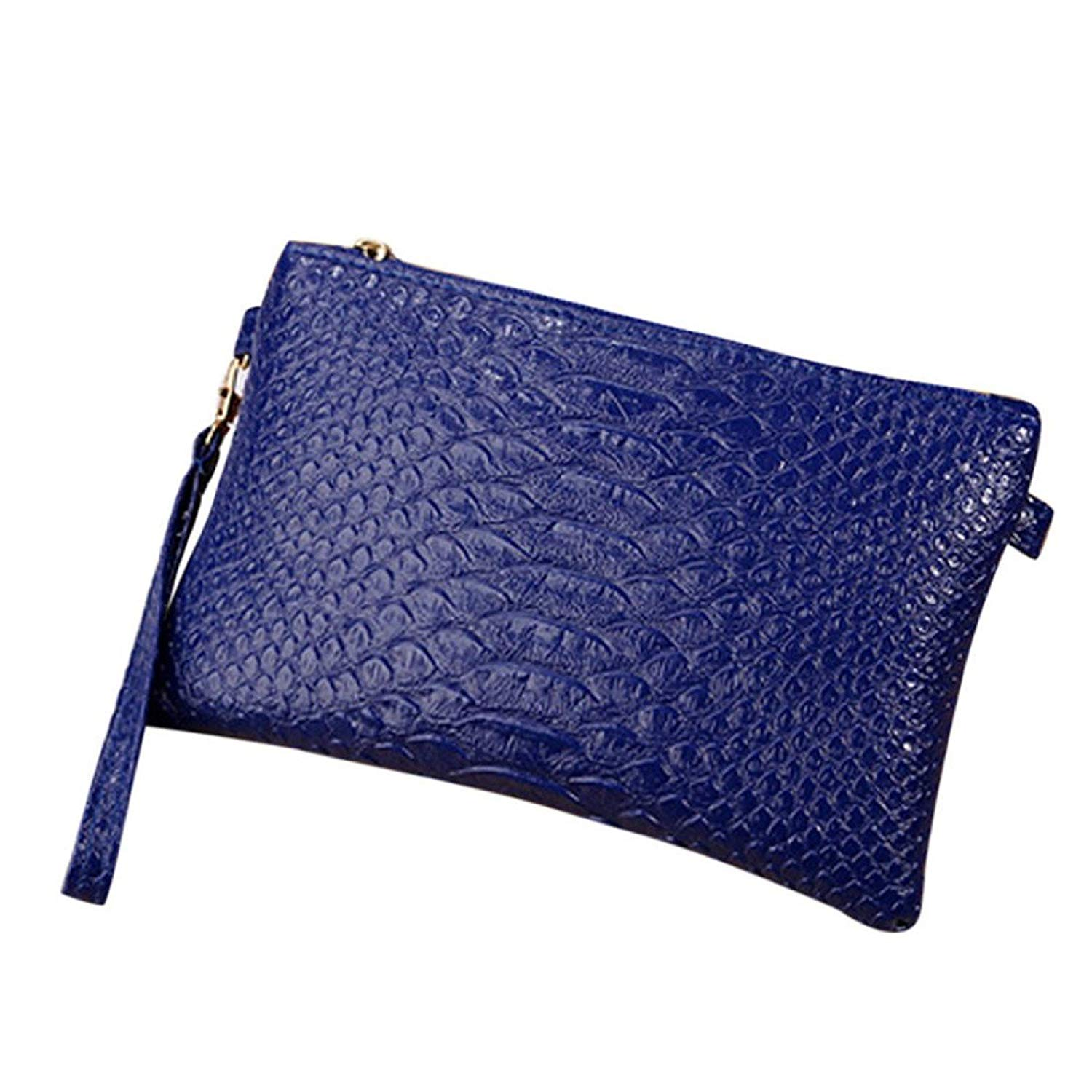 Owill Fashion Women Ladies Snake Striped Leather Handbag Messenger Bags Coin Phone Bag Clutch Bag