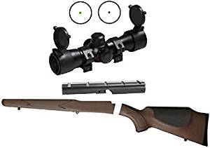 Ultimate Arms Gear ATI Enfield Monte Carlo No. Number # 1 Mk Mark 3 .303/.308 Stock, Woodland Brown Scope Mount + Illuminated Dual Red & Green Dot Reticle Hunting Sniper Rifle Scope