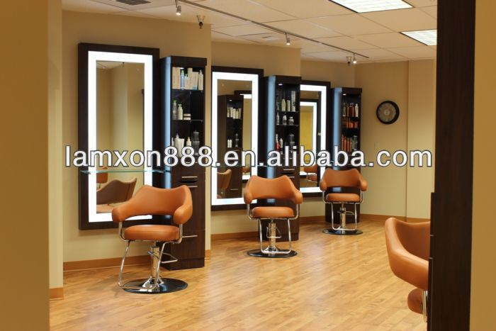 design moderne d coration salon de coiffure miroirs avec. Black Bedroom Furniture Sets. Home Design Ideas