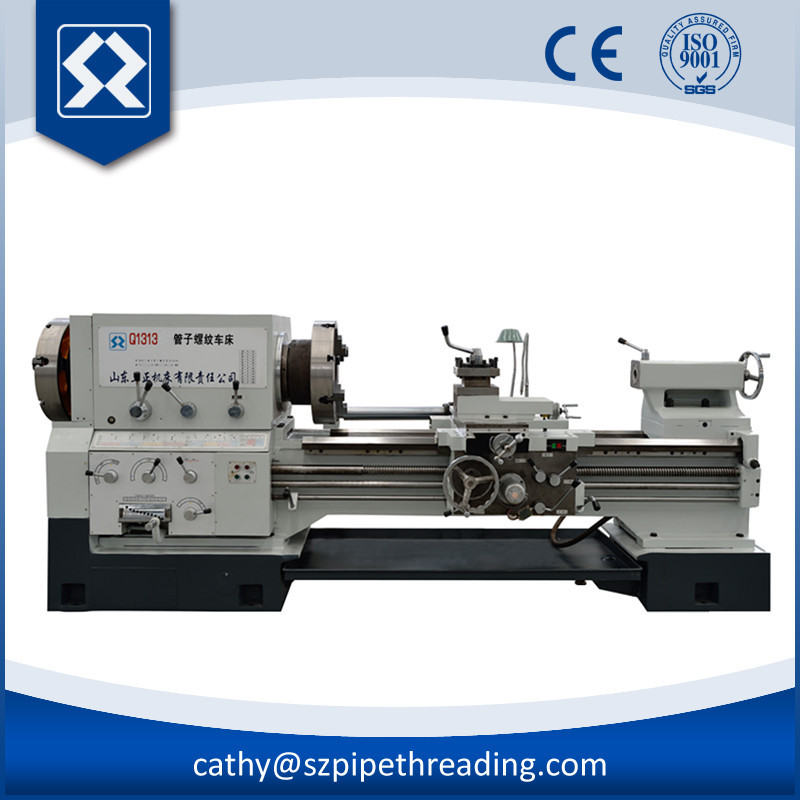Q1313 Semi-Automatic Metal Pipe Threading Lathe Machine Price For Oil Industry With Machine Tool Manufacturer