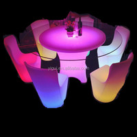 Supply all kinds of wedding party LED table,dining LED table 12 ps seats